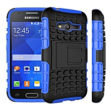 "For Galaxy [Ace 4] Case, Hard PC+Soft TPU Shockproof Tough Dual Layer Cover Shell For 4.0"" Samsung G313 G318, Blue"