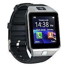 Bluetooth Smart Watch DZ09 Smartwatch Watch Phone Support SIM TF Card With Camera -Silver Black