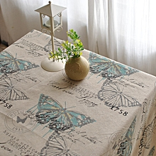 American Style Cotton Linen Tableware Mat Table Runner Tablecloth Desk Cover Heat Insulation Bowl Pad 140*220cm