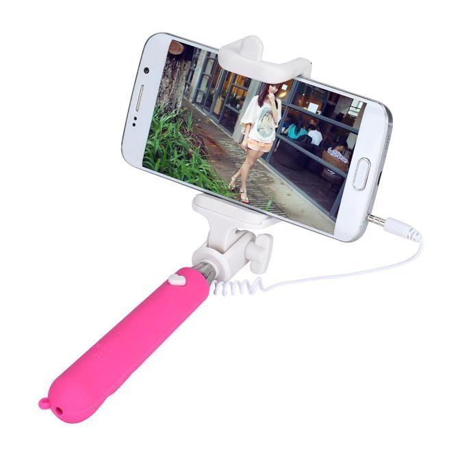 neworldline mini handheld selfie stick monopod camera for for samsung galaxy s7 edge hot pink. Black Bedroom Furniture Sets. Home Design Ideas