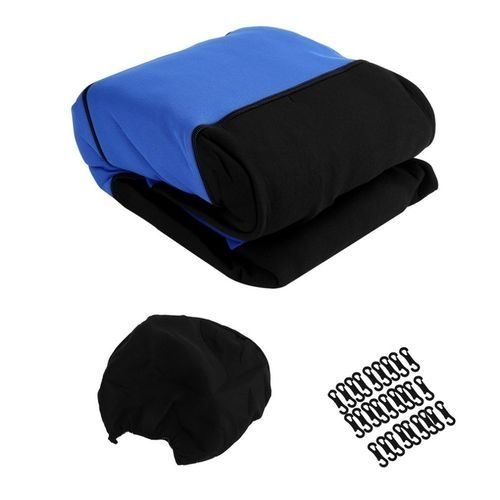 generic 11pcs black blue car seat covers set mat cushion. Black Bedroom Furniture Sets. Home Design Ideas