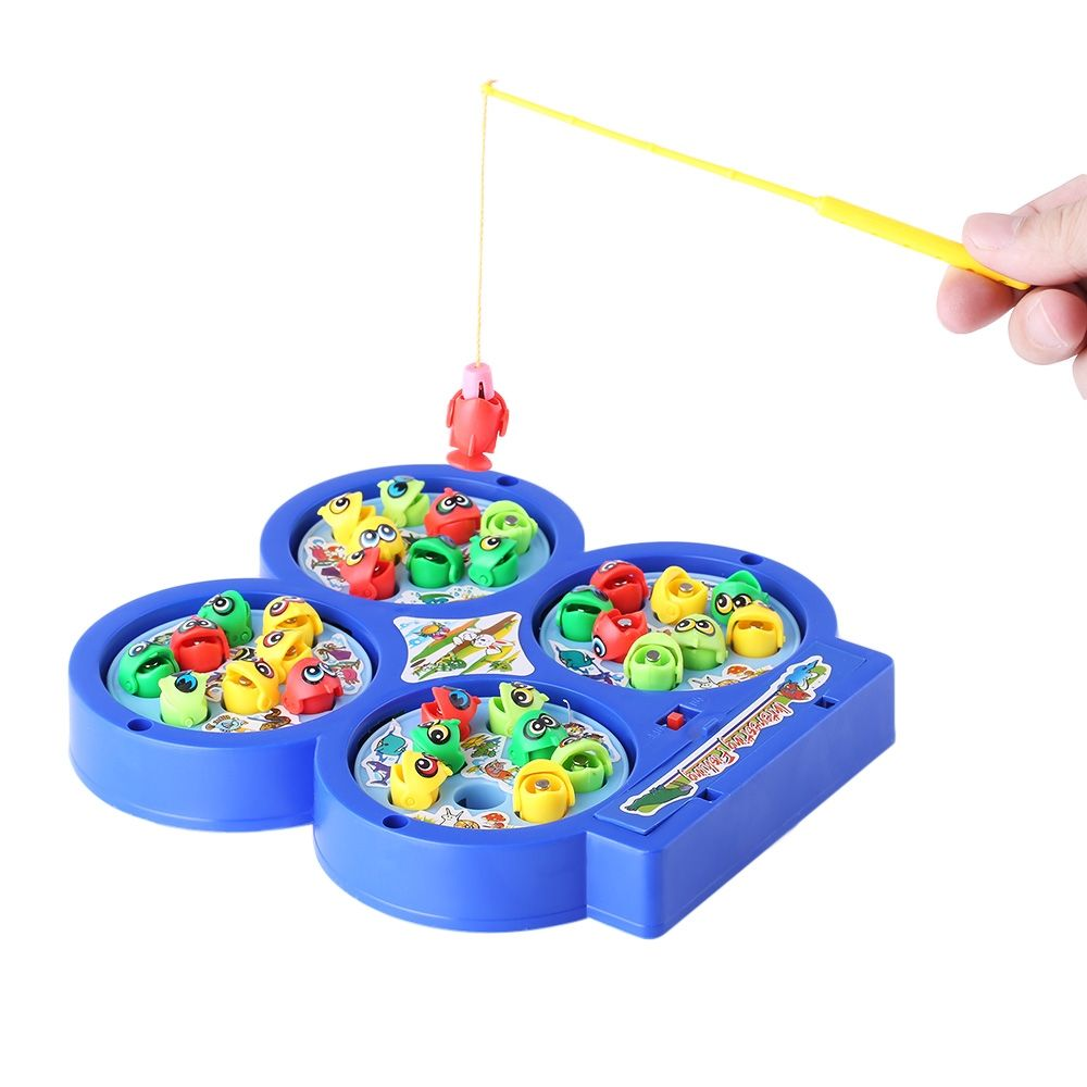 Generic children electronic fishing musical rotating toy for Electronic fishing game