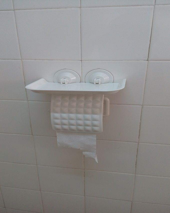 Generic Wall Mount Plastic Toilet Roll Holder White Buy