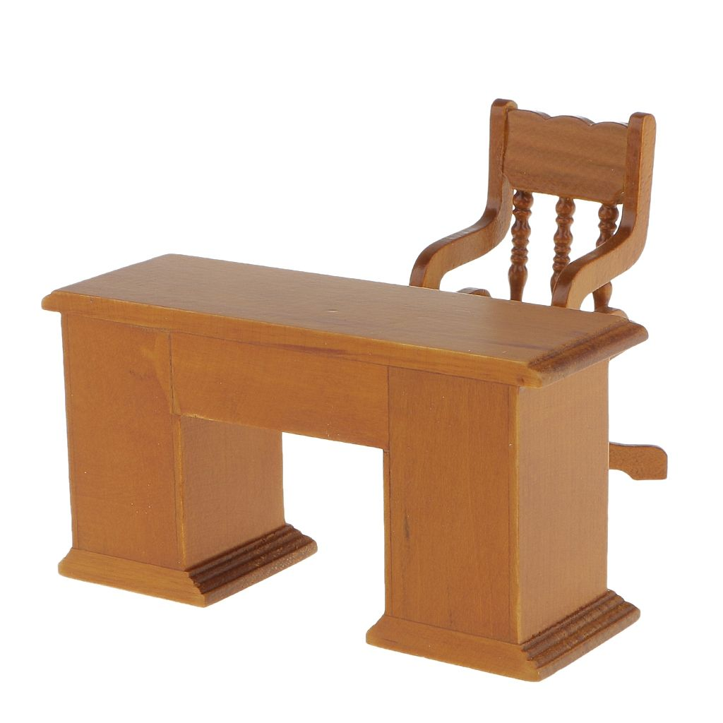 Magideal 1 12 Scale Wooden Table Chair Dolls House Miniature Accessory Buy Online Jumia Kenya