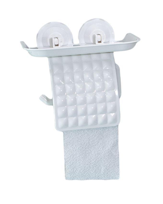 Generic Wall Mount Plastic Tissue Roll Holder White