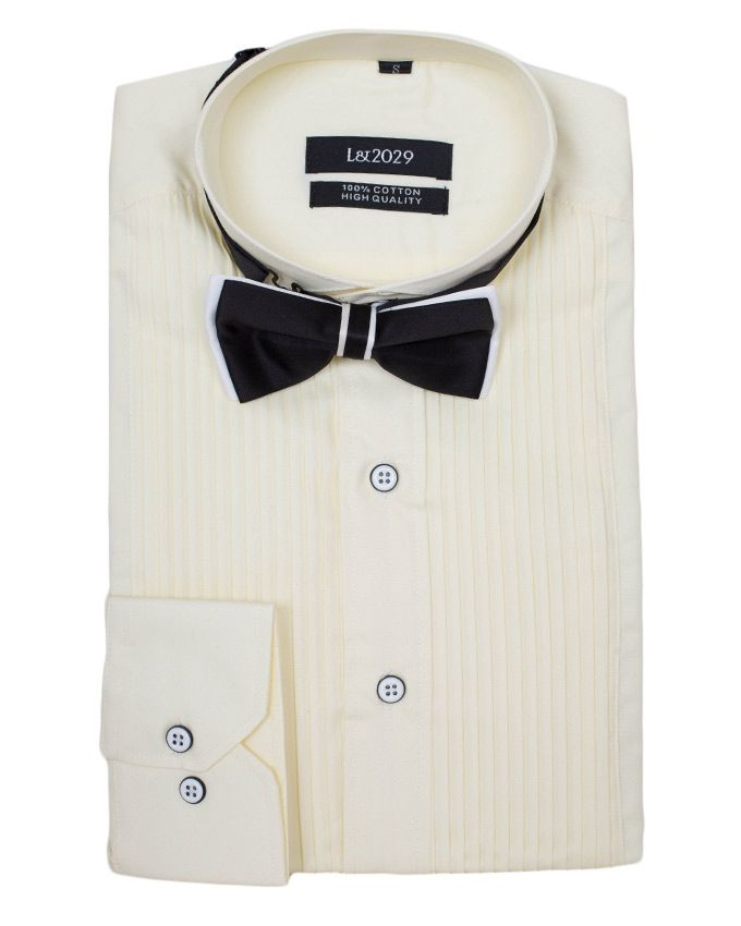 Exclusive weddings off white slim fit tuxedo wedding for Dinner shirts slim fit