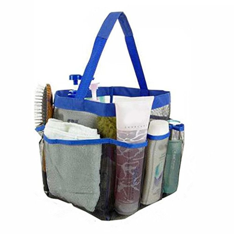 Liplasting Shower Mesh Bathroom Accessories Storage Holder Bag