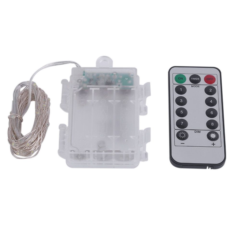 Led String Lights Remote Control : Cocobuy 3M 30 LED String Light 3AA Battery Box With 8 Function Remote Control Buy online ...