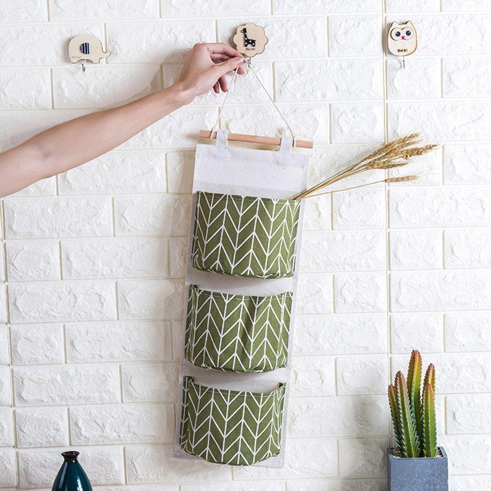 Neworldline wall mounted 3 bags storage bag kitchen sulies - Como almacenar perchas ...