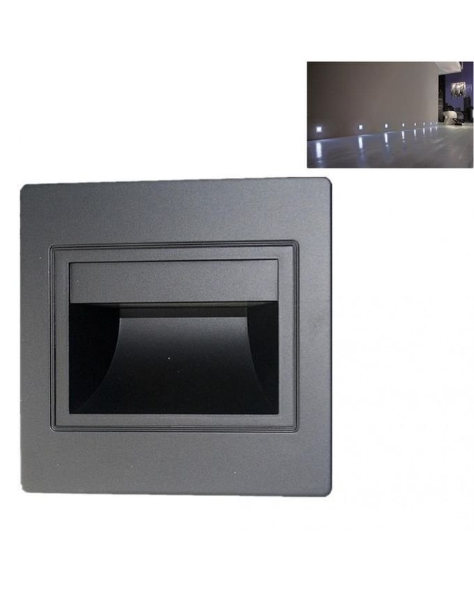 Magideal Outdoor 1.5W Black LED Wall Recessed Light Pathway Step Deck Lamp-Cold White Buy ...