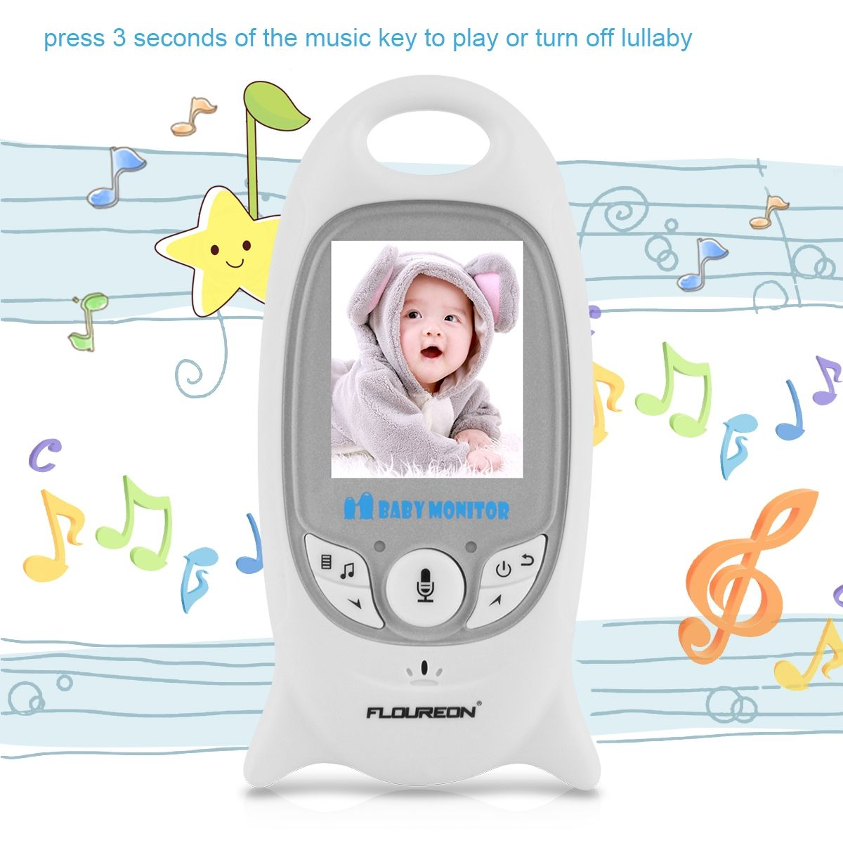 generic digital wireless 2 4 ghz baby monitor infant ir night vision lcd security camera eu. Black Bedroom Furniture Sets. Home Design Ideas