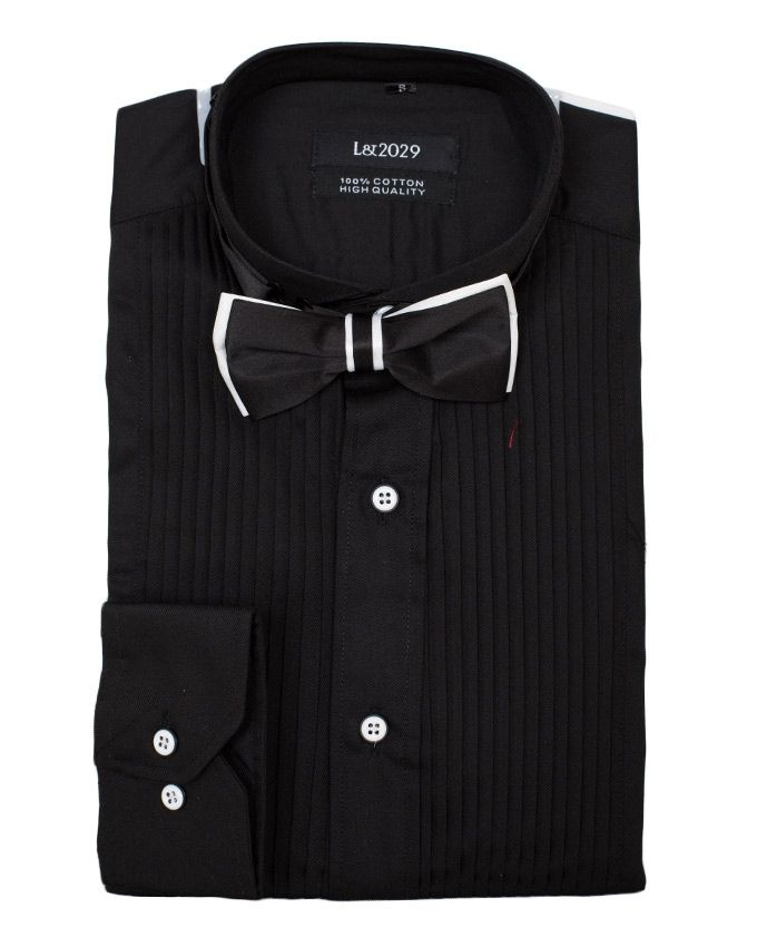 Exclusive weddings black slim fit tuxedo wedding dinner for Dinner shirts slim fit