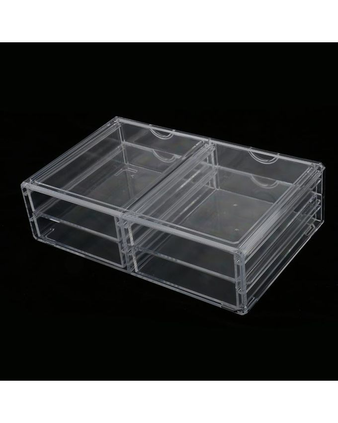 Magideal Acrylic Jewelry Makeup Cosmetic Organizer Case ...