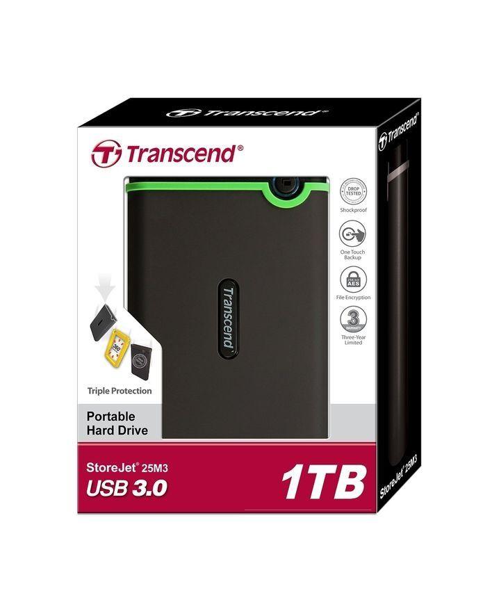 TRANSCEND External Storage Millitary-Grade Shock Resistant ...