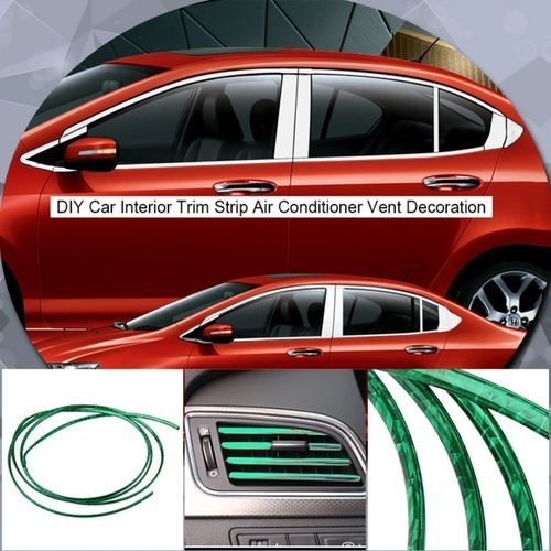 generic u style 6mm 3m diy car interior trim strip air conditioner vent decoration green buy. Black Bedroom Furniture Sets. Home Design Ideas