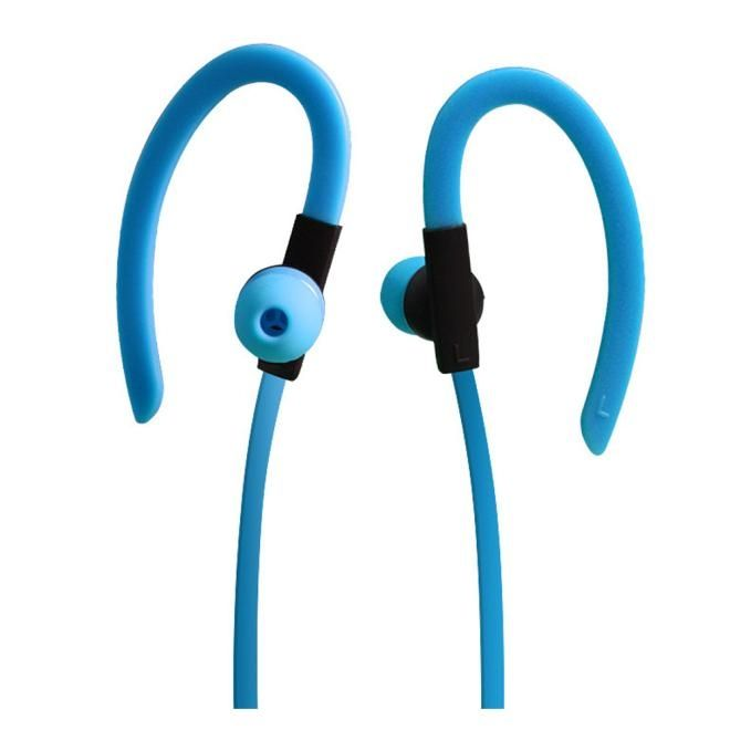 Neworldline Bluetooth Ear Hook Wireless Sports Jogging Stereo Waterproof Headset Earphone-Blue