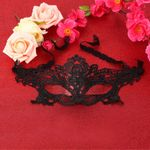 product_image_name-Generic-Halloween Masquerade y Lady Black Lace Mask hollow out Catwoman Batman veil-Black-3