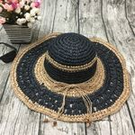 product_image_name-Fashion-Women Outdoor Summer  Handmake Woven Sun Protection Wide Brimmed Floppy Hat Hollow Out Cap-1