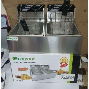 6L+6L Double Deep Fryer Durable and Efficient