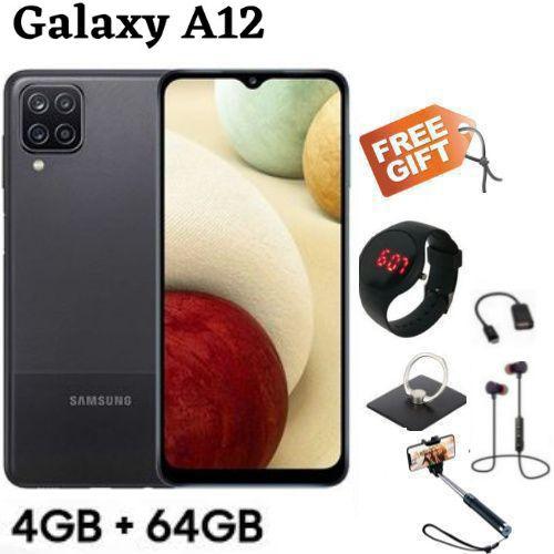 "Galaxy A12, 6.5"", 64 GB + 4 GB. -(Dual SIM) - Black + FREE GIFTS"