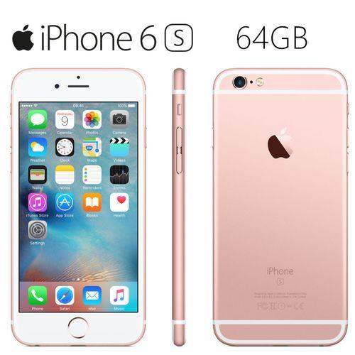 IPhone 6s 4.7'' (64GB+2GB) -With Fingerprint Smartphone(Refurbished)- Rose Gold
