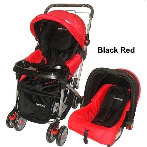 Generic 3 in 1 baby stroller set- Red & Black @ Best Price ...
