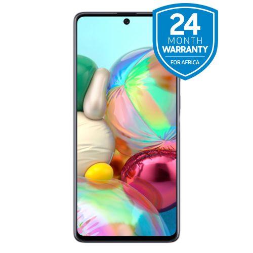 """Galaxy A71 - 6.7""""- 128GB+6GB RAM - (64+12+5+5)MP - Dual SIM - Prism Crush Silver"""