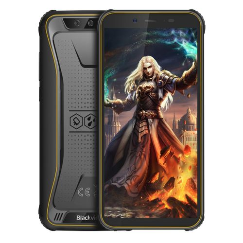 BV5500 Pro Rugged Phone, 3GB+16GB,Face Unlock, 4400mAh Battery, 5.5 inch Android 9.0, Network: 4G, NFC, OTG, Dual SIM(Yellow)