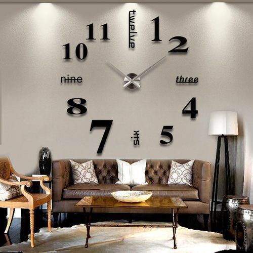 Generic Stick On Wall Clock DIY Large Modern Design Decal