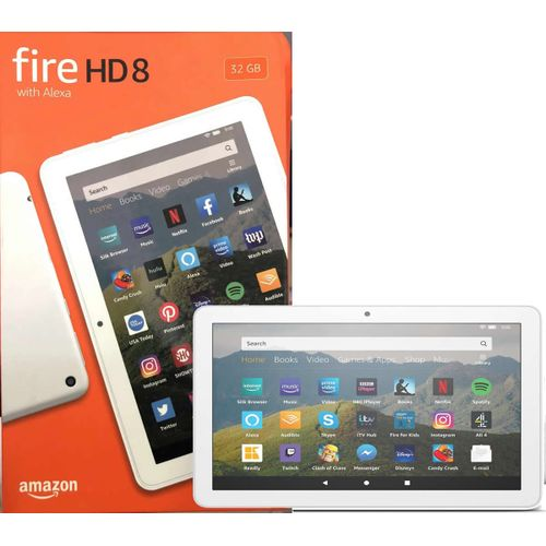 Fire HD 8 Tablet With Alexa - 32GB, 2GB RAM 8″ HD Display- 10TH GEN 2020 Release