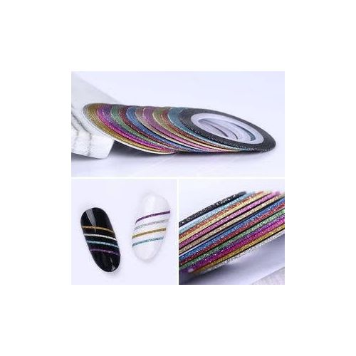 Nail Striping Tape Line - ( Various Colours 6 Strips )