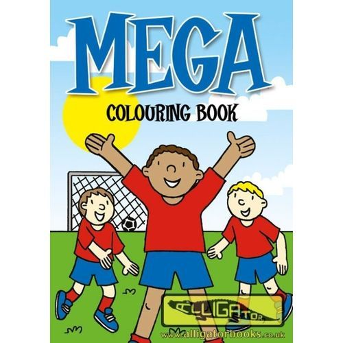 Mega Colouring Bk (Blue-gr)