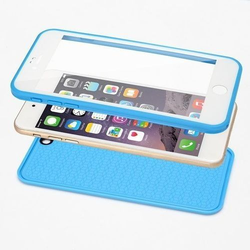 Waterproof Phone Cases For iPhone 6 6s Thin Shockproof Hybrid Rubber Soft Silicon TPU Touch Swimming Case Back Cover for iphone 6 6s - Blue