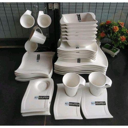 30 PCs Executive Ceramic Dinner Set-Plates Serveware