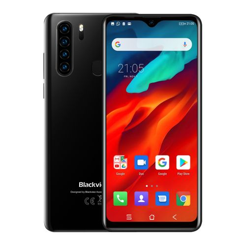 A80 Pro, 4GB+64GB, Face ID & Fingerprint Identification, 4680mAh Battery, 6.49 inch Waterdrop Screen Android 9.0 Pie, Network: 4G, Dual SIM(Black)