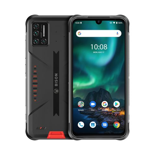 BISON Rugged Phone, 6GB+128GB, 6.3 Inch Android 10, 4G Smartphone - Orange