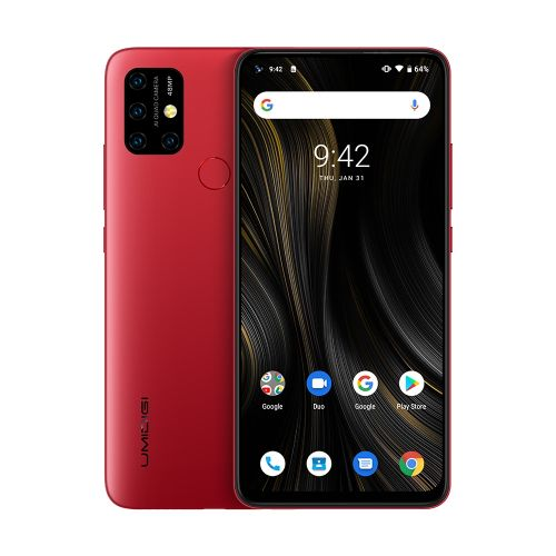 Power 3, 4GB+64GB, 6.53 Inch Android 10, 6150mAh Battery, 4G Smartphone - Red