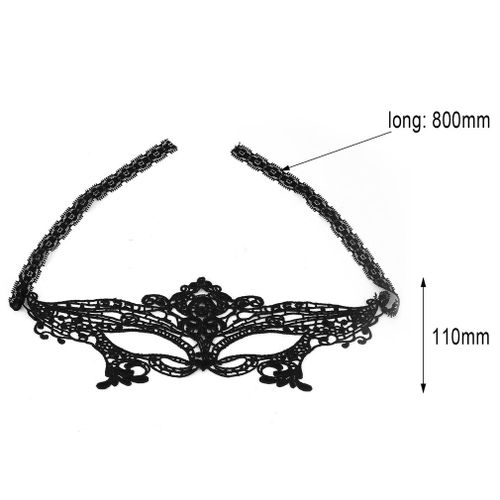 product_image_name-Generic-Halloween Masquerade y Lady Black Lace Mask hollow out Catwoman Batman veil-Black-8