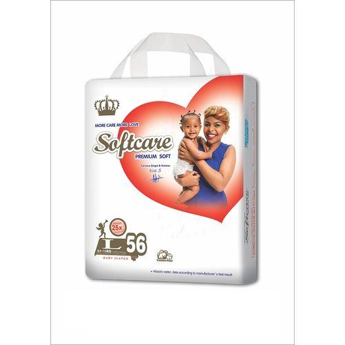 Softcare Premium Baby Diapers Jumbo L- 56pack @ Best Price ...