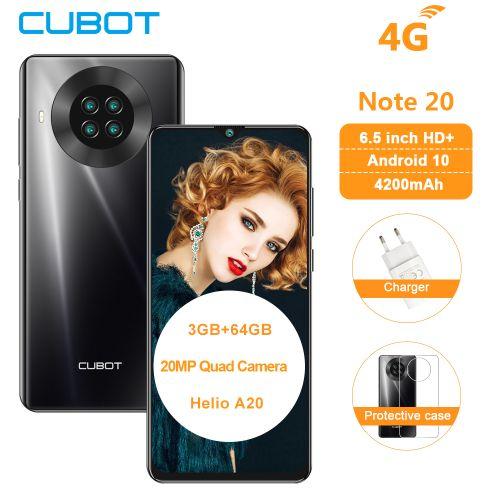 "Note 20, 6.5"", 3GB+64GB, (Dual SIM) Quad Camera Android 10 NFC 12MP- Black"
