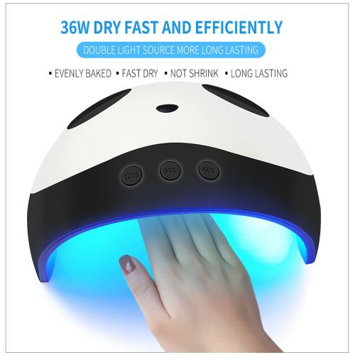 36W Nail Lamp Panda Pattern LED/UV Nail Lamp Gel Polish Dryer Nail Dryer