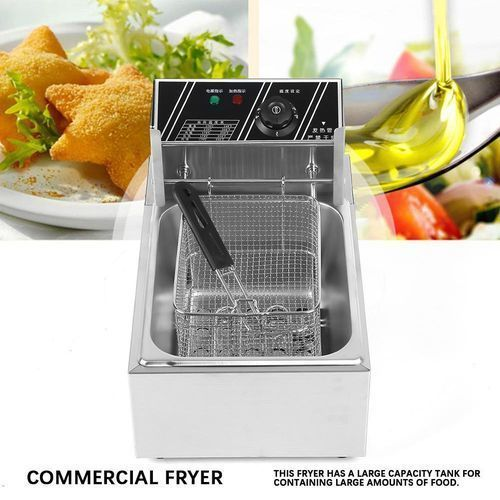 product_image_name-Generic-4.5L 2500W Commercial Stainless Steel Electric Deep Fryer With Basket 220V CN Plug-6