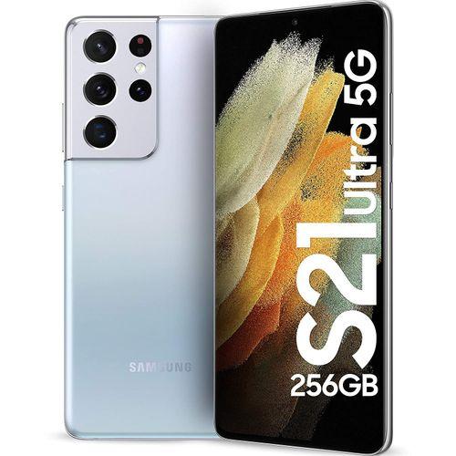 "Galaxy S21 Ultra 5G, 6.8"", 256GB + 12GB RAM (Dual SIM), Phantom Silver"