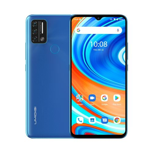 A9, 3GB+64GB, 6.53 Inch Android 11, 5150mAh Battery Smartphone - Blue