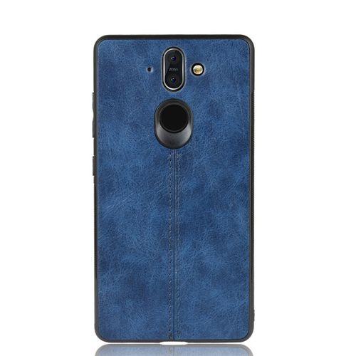 Nokia 8 Sirocco Case TPU Leather Phone Case Cover - Blue