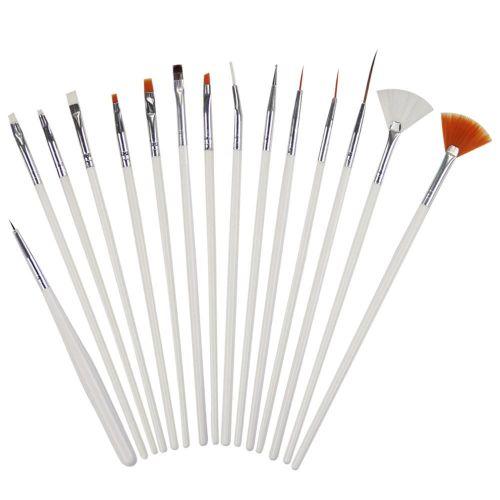 15 Pcs Nail Art Set Brush