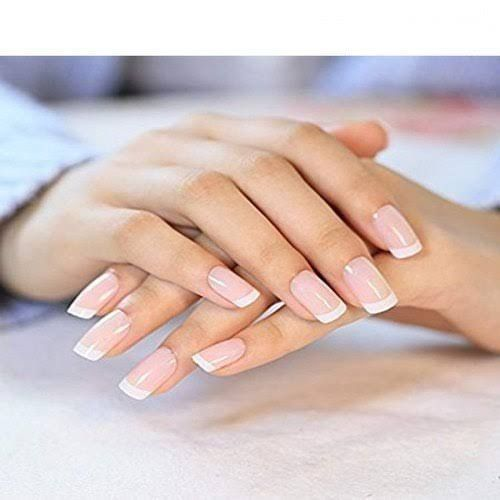 20 Pcs/Set French Nails Pre-design Acrylic Nail Full Cover
