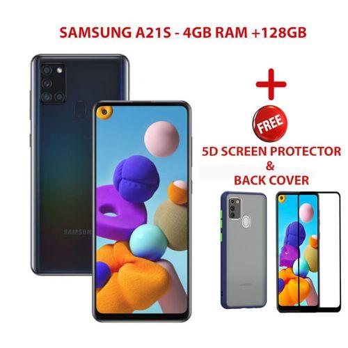 "Galaxy A21s,4GB +64GB,6.5"",Dual SIM,Black+MATTE BACK COVER+5D SCREEN PROTECTOR"