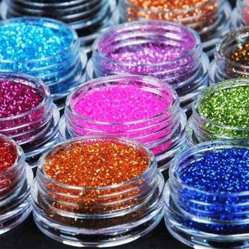 Glitter Powder Dust ( Various Colours 10pcs )