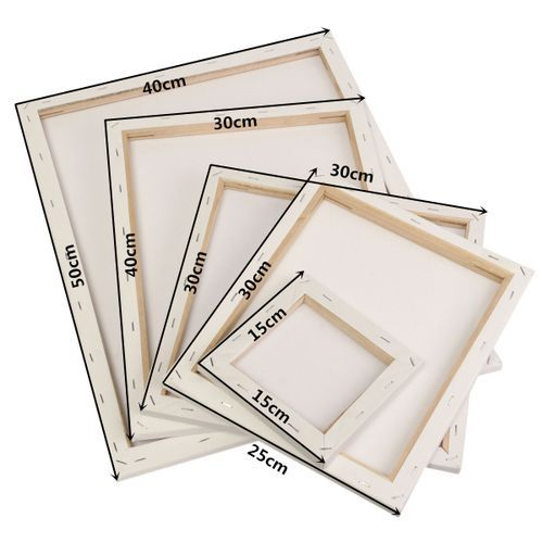 15/25/30/40/50cm White Blank Canvas Board Wood Frame For Art Oil Acrylic Paint